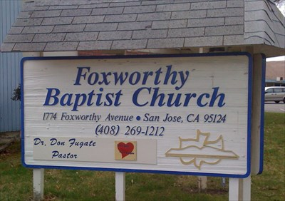 Sign visible from Foxworthy Avenue