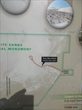 """Image for White Sands National Monument """"You are here"""" - Alamogordo, NM"""