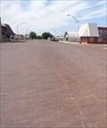 Image for Historic Route 66 - Brick-Paved Broadway - Davenport, Oklahoma, USA.