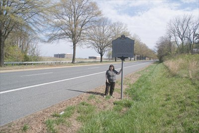 geotrooperz-gm at the ENIAC historical marker near the Aberdeen Proving Ground gate in Harford County, Maryland