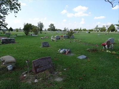 Shot across the cemetery