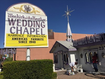 Wee Kirk Wedding Chapel, Pane 1, Las Vegas, Nevada