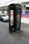 Image for Black Telephone Box - Derry Street, London, UK