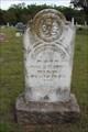 Image for OLDEST Marked Grave in Whitt Cemetery - Whitt, TX