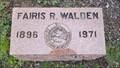 Image for Fairis R. Walden - Monroe Cemetery - Monroe, OR