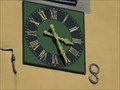 Image for Clock at Bell Tower of Lutheran Church St. Gereon, Berkum - NRW / Germany