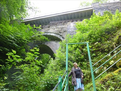 Lord Abercrombie visited The Devils Bridge, Ceredigion, Wales
