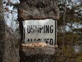 Image for Cookson WMA Sign Eating Tree - Cookson, OK, USA