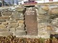 Image for Franklin Mile Marker - 72 Miles From Boston - 1767 Milestones - Warren, MA