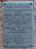 Image for Texas Cattle Trail - Abilene, KS