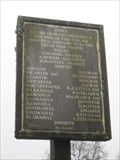 Image for Imber Roll of Honour - Wiltshire