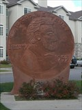 Image for World's largest penny fits perfectly in small Wisconsin town - Woodruff, WI