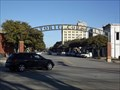 Image for Crews erect 'Historic Corsicana' arch - Corsicana, TX