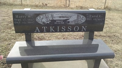 Harry W. and Carol L. Atkisson Dedicated Bench, by MountainWoods
