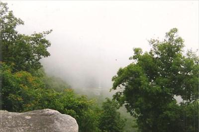 view in heavy fog