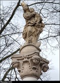 Image for Our Lady with Infant Jesus / Panna Marie s Jezulátkem - Marian column in Sazená (Central Bohemia)
