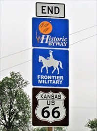 Route 66 & Frontier Military - Historic Byway End - Kansas
