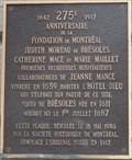 Image for Plaque du 275e anniversaire de la fondation de Montréal - Montréal, Québec