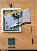 Image for Panenský Týnec - municipal flag on Municipal Office / mestská vlajka na mestském úrade (North-West Bohemia)