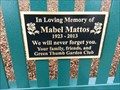 Image for Bench dedicated for Mabel Mattos