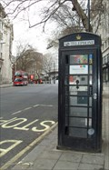 Image for Repainted 'phone box, Aldwych, London.