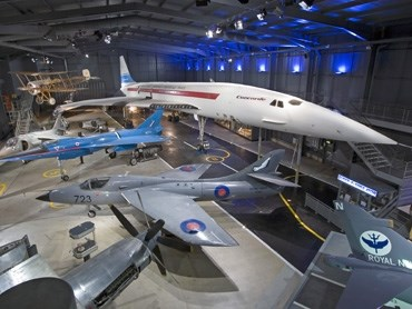 Along side military aircraft displays you can see Concorde. The iconic British supersonic transport aircraft.
