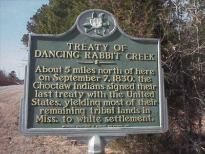 Treaty of Dancing Rabbit Creek - Mississippi Historical Markers on ...
