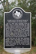 Image for Camp Alto World War II Prisoner of War Camp -- Alto TX