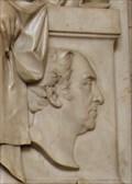 Image for ADM Sir Richard Hussey Bickerton RN Tombstone --  Bath Abbey, Bath, Somerset, UK