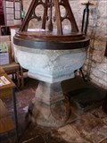 Image for Norman Font - Caerwent Parish Church - Wales.