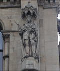 Image for Monarchs – King George III Of United Kingdom On Side Of City Hall - Bradford, UK