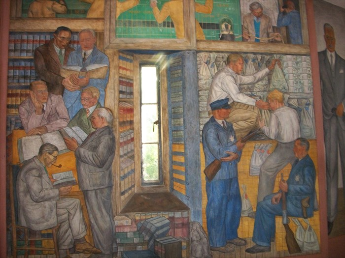 Coit tower wpa murals san francisco ca image for Coit tower mural