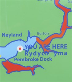 You Are Here - Hobbs Point - Pembroke Dock