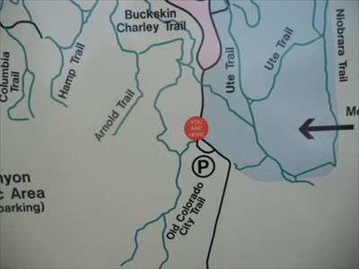 Garden Of The Gods Park Trails You Are Here Map Colorado Springs Co You Are Here Maps On Waymarking Com