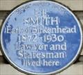 Image for F E Smith Earl of Birkenhead - Ebury Street, London, UK