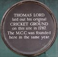Image for FIRST - Lord's Cricket Ground - Dorset Square, London, UK