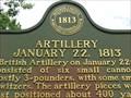 Image for Artillery 22 January 1813 - Monroe, Michigan, USA.