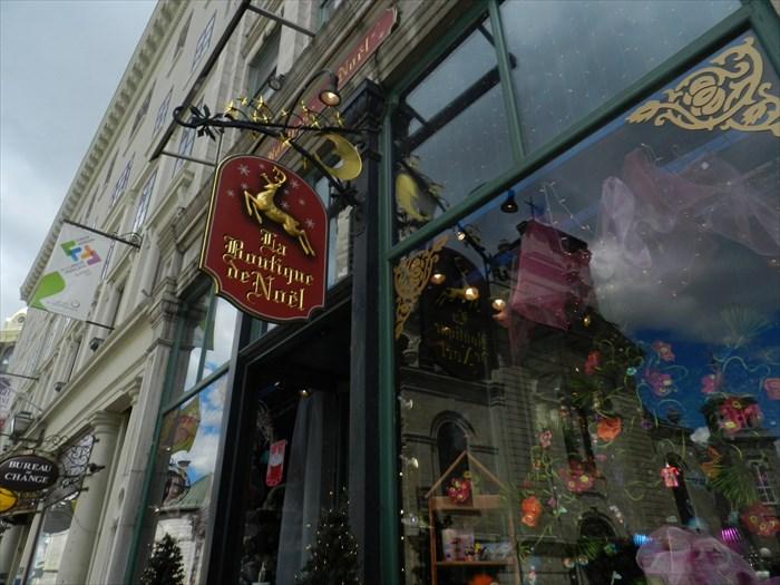 La boutique de noël de québec quebec city quebec canada image