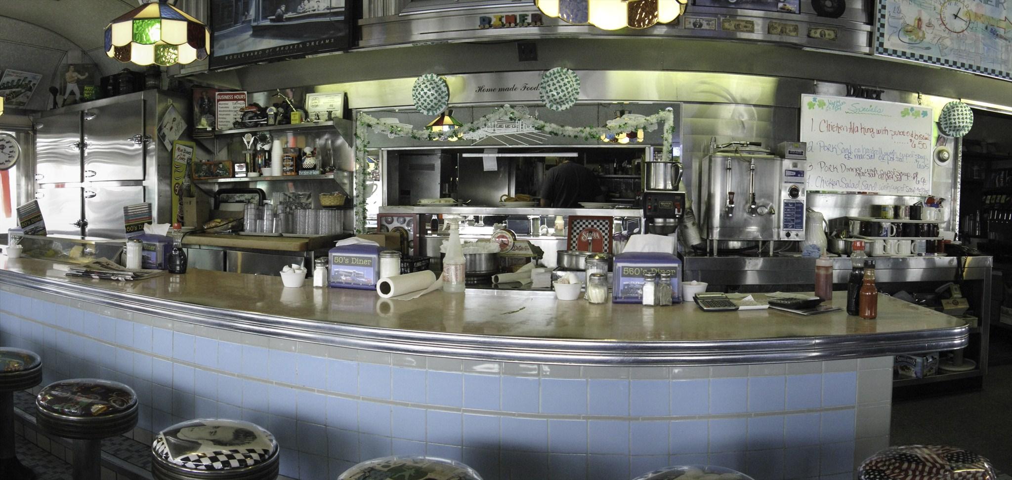 50 39 s diner interior vogel 2 for Diner interior