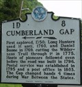 Image for Cumberland Gap Historical Marker - Cumberland Gap, TN