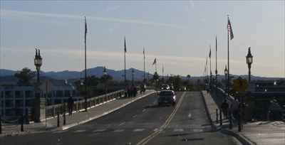 The bridge is open to pedestrians and vehicles.