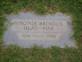 Image for 100 - Virginia Broadus Head-Pine  - Rose Hill Burial Park - OKC, OK