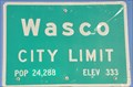 Image for Wasco ~ Population 24,288