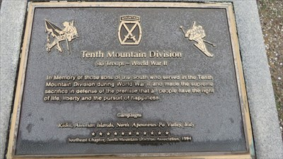 Ski Troops Memorial - Gatlinburg, Tenessee