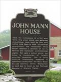 Image for John Mann House Historical Marker