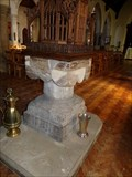 Image for Norman Font - All Saints Church - Oystermouth, Wales, Great Britain.