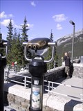 Image for Upper Hot Springs Binos - Looking out over the Bow Valley - Banff, Alberta