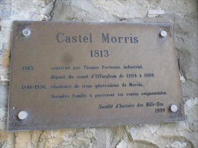 Affiche sur la Maison Morris 13 rue Saint-Charles Sainte-Thérèse