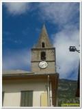 Image for L'horloge du clocher de l'église Saint Laurent - Lauzet-Ubaye, Paca, France