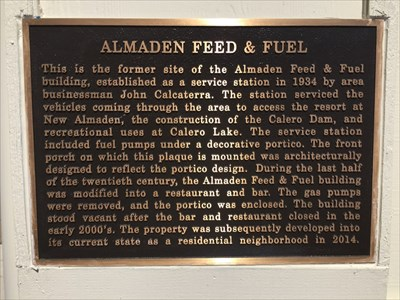 Almaden Feed & Fuel Plaque, San Jose, California